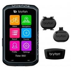 Bryton Rider 860T GPS computer szett, (+HRM, SPD, CAD, Sport Mount)