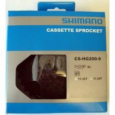 Shimano CS-HG200-9, 9 sebességes fogaskeréksor