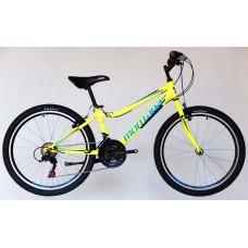 Trans Montana MTB 24 Junior Acél neon sárga/kék